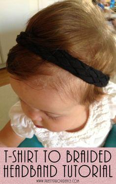 T-Shirt to 5 Strand Braided Headband Tutorial | Pretty Providence