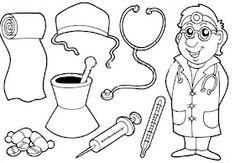 Fise de lucru - gradinita: IMAGINI de colorat cu MESERII - Brutar, Bucatar, Profesoara, Zidar, Postas, Pompier Youth Activities, Cool Art, Fun Art, Some Ideas, Peppa Pig, Art For Kids, Snoopy, Medical, 8 Martie