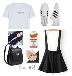 """""""No Name"""" by emma-natalie ❤ liked on Polyvore featuring WithChic, adidas and Moschino"""