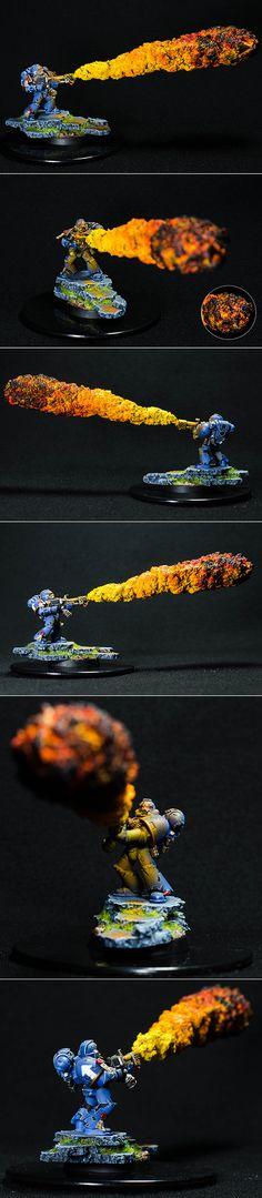 40k - Ultramarine's Flamethrower by vdaiev