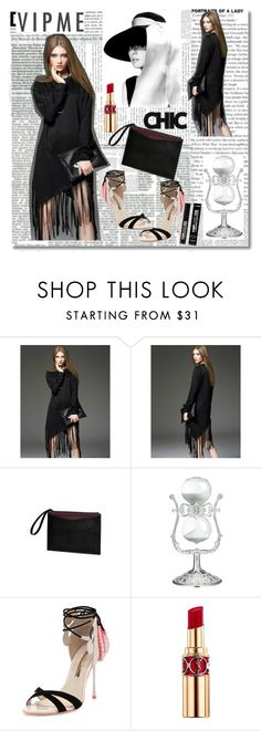 """""""Vipme  24"""" by zijadaahmetovic ❤ liked on Polyvore featuring Sophia Webster, Yves Saint Laurent, FusionBeauty, women's clothing, women, female, woman, misses and juniors"""