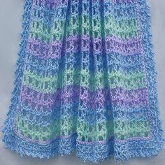 Crochet For Children: Crochet A Striped Lace Baby Afghan - Free Pattern