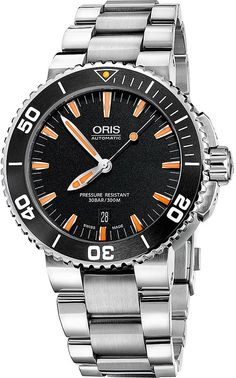 Oris 74376734159MB Aquis Stainless Steel Diving Watch - for Men
