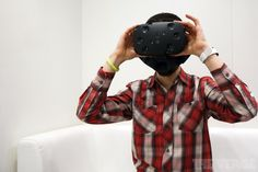 This is Valve's VR headset, the HTC Vive [Virtual Reality: http://futuristicnews.com/tag/virtual-reality/ VR Headsets: http://futuristicshop.com/category/video-glasses-2/]