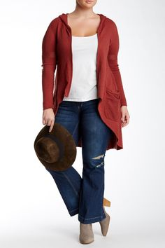 Democracy - Zip Front Hooded Duster (Plus Size) at Nordstrom Rack. Free Shipping on orders over $100.