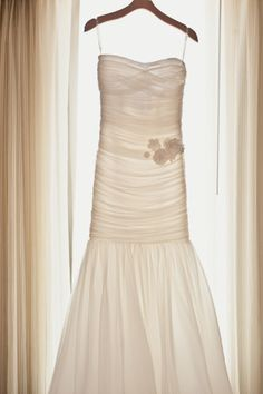 Modern Trousseau - Could never pull it off, but how gorgeous.  And look how the light just makes it glow.