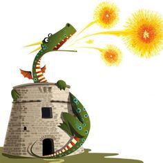 Drac de St Jordi Dragon Illustration, Children's Book Illustration, Character Drawing, Character Design, Dragon Nursery, Dragon Dreaming, Dragon Party, Retro Cartoons, Dragon Pictures