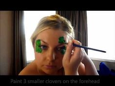 How To: St Patrick's Day Clover Design Face Painting