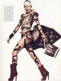 // V \\ : Vogue : Keith Haring / Tribal Fashion