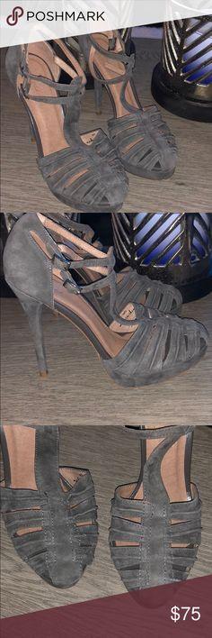 Heels ‼️price Drop ‼️Joie grey closed toe T strap pump . Great condition Joie Shoes Heels