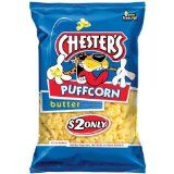 Craving popcorn but know it's a NO-GO with braces?   Check out this alternative: Chester's Puff Corn from Frito-Lay. It comes in at least three flavors - Butter, Cheese, Flamin' Hot. Available at Walmart,