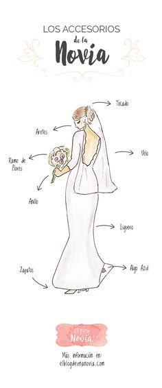 Los Accesorios de la Novia   El Blog de una Novia   #boda #novia