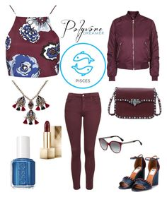 """I'm A Pisces, March 10."" by im-karla-with-a-k on Polyvore featuring Topshop, Essie, Giancarlo Petriglia, Lanvin, Fendi and Palm Beach Jewelry"