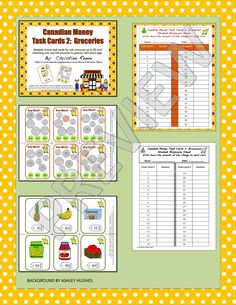 This is a Canadian version of a product made with US currency that can be found here.  I developed these functional curriculum task cards for middle and high school students with special needs who are working on understanding money. The set would work well with younger students as well as part of either the core curriculum or to meet IEP goals.  $3 2nd Grade Math, Second Grade, Grade 2, Autism Classroom, Special Education Classroom, Teacher Resources, Teaching Ideas, Learning Money, Core Curriculum
