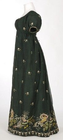 Green Regency Era Dress