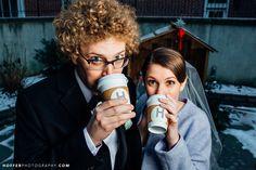 Hot chocolate at a winter wedding  Hoffer Photography   Modern Wedding Photographers