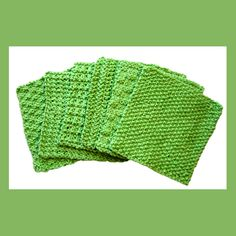 Knitted dishcloths.