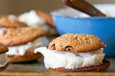 Oatmeal Cookies with Marshmallow Filling (Grain Free, Paleo)
