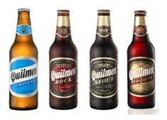 Cerveza Quilmes. Beer of Argentina.  I finally enjoyed drinking it this summer in Buenos Aires. Boy, it was HOT!