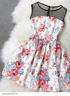 Colorido y juvenil vestido para el verano para mi hija