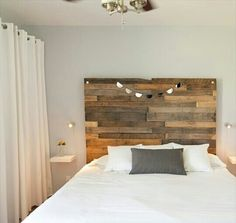 I love the way they used the pallets for the head board