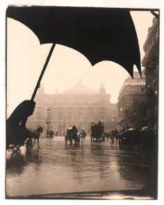 There's nothing quite like Paris in the rain. Photo of the Opera Garnier by Pierre Dubreuil, 1909 via Retronaut