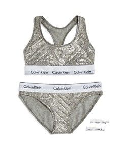 Calvin Klein Modern Cotton Gift Set: 1 Bralette + 1 Bikini + 2 Hair Ties