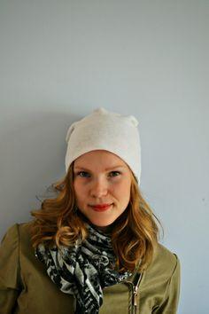 PERUSPIPON KAAVA JA OMPELUOHJEET - Ideoiblogi Winter Hats, Beanie, Sewing, Womens Fashion, Diy Ideas, Beanies, Hat, Dressmaking, Couture