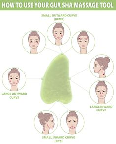 Gua sha facial is a practice of using a scraping massage tool to apply gentle pressure and massage the skin, to make it frimer, tighter and plumper. Gua Sha Massage, Face Massage, Acne Facial, Facial Care, Facial Cleanser, Facial Masks, Facial Scrubs, Beauty Care, Beauty Skin
