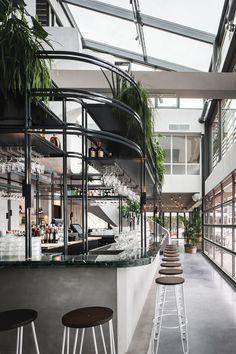 George Marina by Framework Studio | Restaurant interiors Architecture Restaurant, Modern Restaurant, Restaurant Kitchen, Interior Architecture, Bar Interior, Restaurant Interior Design, Modern Interior Design, Restaurant Interiors, Design Hotel