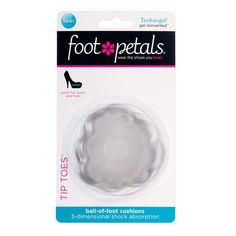 Foot Petals Tip Toes are crafted of Technogel -- a patented, revolutionary gel like no other. Its 3-dimensional shock absorption diffuses pressure broadly across the foot, reducing stress on all pressure points.