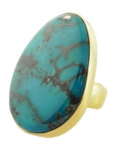 Alchemia Free Form Turquoise Ring.