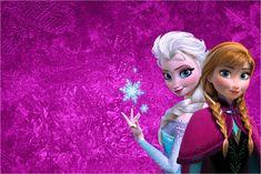 Convite, Moldura e Cartão Frozen Roxo e Azul: