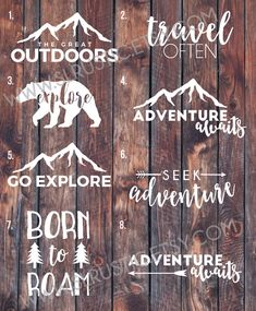 adventure decal, travel decal, explore decal, outdoors decal, yeti cooler decal, laptop decal, car decal. by SLrustic on Etsy https://www.etsy.com/listing/467283833/adventure-decal-travel-decal-explore