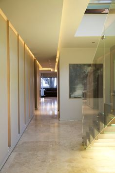Hall w/ built-in storage panels