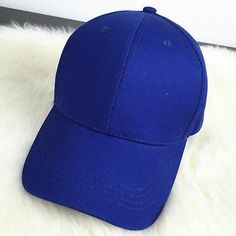 Chic Solid Color Casual Style Baseball Cap For Women