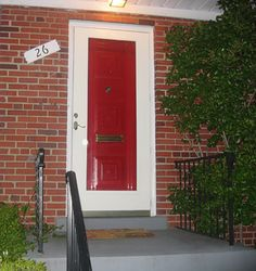 Paint your front door red. Spray paint gives it a professional ...