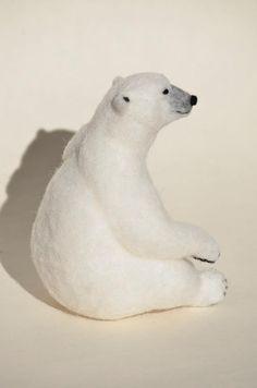 羊毛フェルト シロクマ ホッキョクグマ