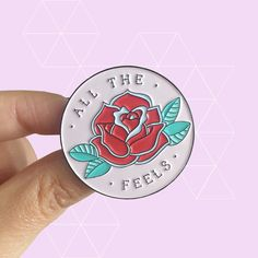 All The Feels Soft Enamel Pin Proceeds Support by TheFive15