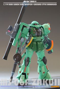 RG 1/144 Zaku II [Add Weapon + Ground Style Arranged] Latest Work by G-Farmer. FULL Photoreview, Many Hi res Images