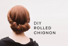 Wedding Hairstyle for Long Hair from Once Wed - DIY Rolled Chignon