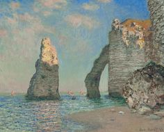 Monet - The Cliffs. Just saw this at the Kimbell - The Clark Exhibit.