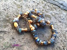 Labradorite and goldfilled  925 solid silver by 75marghe75 on Etsy