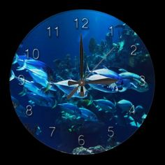 Underwater 8 Wall Clocks & Numeral Options