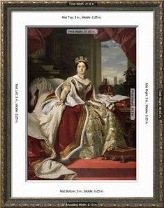 'Queen Victoria of England in Her Coronation Robes' Giclee Print - Franz Xaver Winterhalter | Art.com