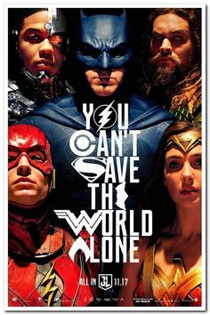 "New posters in stock!!   JUSTICE LEAGUE - 2017 -   Original 27x40 ADV ""B"" Movie Poster - GAL GADOT, AFFLECK"