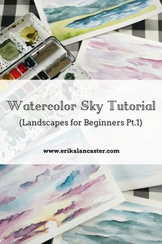 Watercolor Sky Tutorial (Landscapes for Beginners Pt.1)
