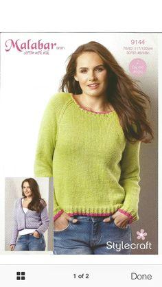 da83f692d Ladies Raglan Sweater and Cardigan in Stylecraft Malabar Aran Weaving  Patterns