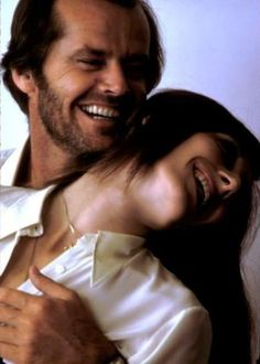 Jack Nicholson with Anjelica Huston.