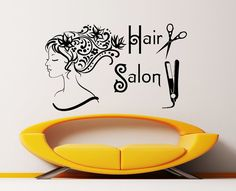 Hair Salon Beauty Salon Barbershop Hairdressing Salon Wall Decal Vinyl Sticker Wall Decor Home Interior Design Art Mural KV-4